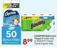 Charmin Bathroom Tissue - 50 Air Miles Bonus Miles