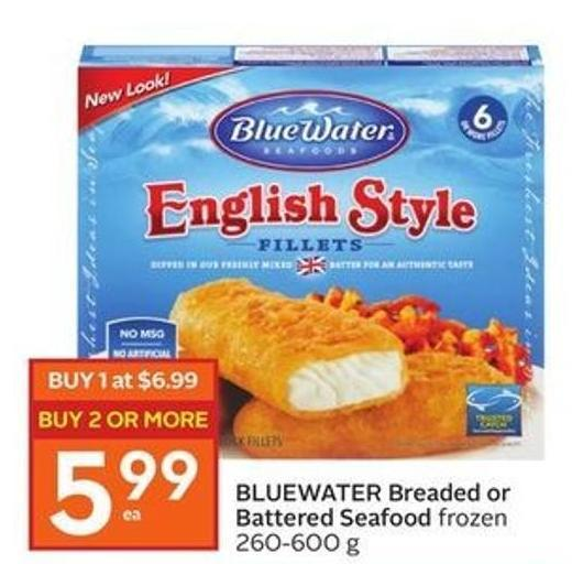 Bluewater Breaded or Battered Seafood