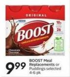 Boost Meal Replacements or Puddings