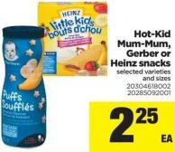 Hot-kid Mum-mum - Gerber Or Heinz Snacks