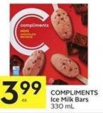Compliments Ice Milk Bars 330 mL
