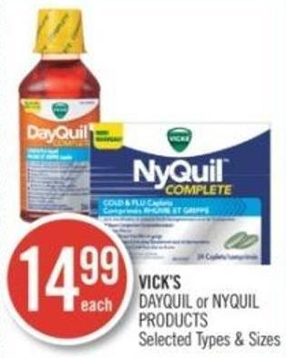 Vick's Dayquil or Nyquil Products