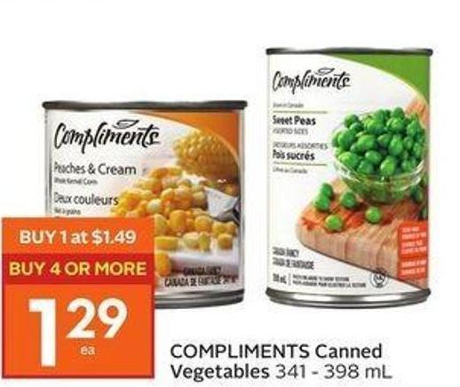 Compliments Canned Vegetables