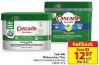 Cascade Dishwasher Tabs