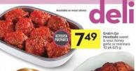Grab'n Go Meatballs Sweet & Sour - Honey Garlic or Marinara 10 Pk 625 g