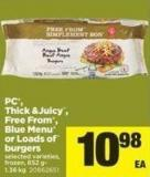 PC - Thick &Juicy - Free From - Blue Menu Or Loads Of Burgers.852 g - 1.36 Kg