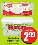 Huggies Baby Wipes 64-72 Pk