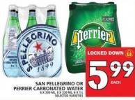 Sanpellegrino Or Perrier Carbonated Water