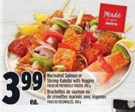 Marinated Salmon Or Shrimp Kabobs With Veggies