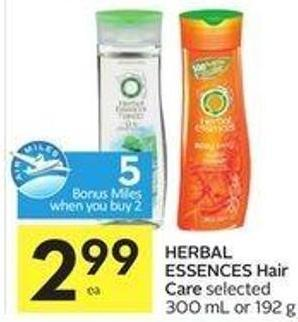 Herbal Essences Hair Care - 5 Air Miles Bonus Miles