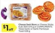 Compliments Cheese Swirl Buns