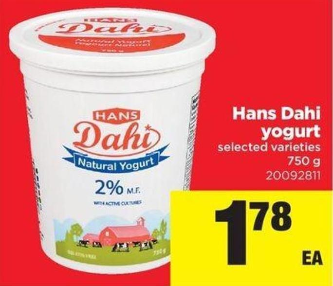 Hans Dahi Yogurt - 750 G