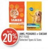 Iams - Pedigree or Caesar Pet Food