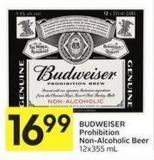 Budweiser Prohibition Non-alcoholic Beer - 12x355 mL