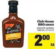 Club House Bbq Sauce - 435 mL