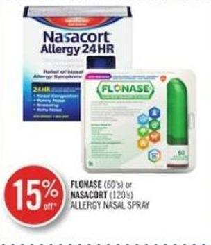 Flonase (60's or Nasacort (120's) Allergy Nasal Spray