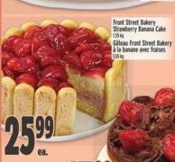 Front Street Bakery Strawberry Banana Cake