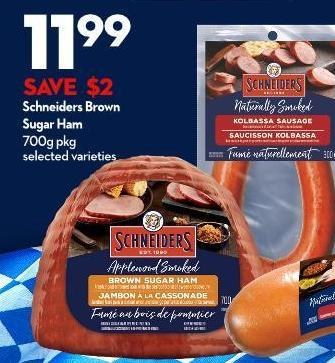 Schneiders Brown  Sugar Ham  700g Pkg