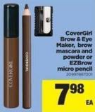 Covergirl Brow & Eye Maker - Brow Mascara And Powder Or Ezbrow Micro Pencil