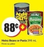 Heinz Beans or Pasta 398 mL
