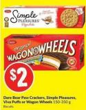 Dare Bear Paw Crackers - Simple Pleasures - Viva Puffs or Wagon Wheels 150-350 g