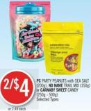PC Party Peanuts With Sea Salt (200g) - No Name Trail Mix (150g) or Carnaby Sweet Candy (250g - 500g)