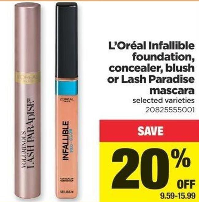 L'oréal Infallible Foundation - Concealer - Blush Or Lash Paradise Mascara