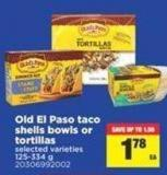 Old El Paso Taco Shells Bowls Or Tortillas - 125-334 g