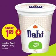 Halal or Dahi Yogurt 750 g