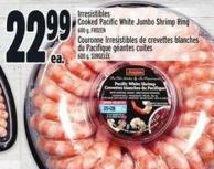 Irresistibles Cooked Pacific White Jumbo Shrimp Ring 600 g