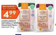 Compliments Naturally Simple Sliced Deli Meats
