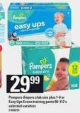 Pampers Diapers Club Size Plus - 1-6 Or Easy Ups Econo Training Pants - 86-112's