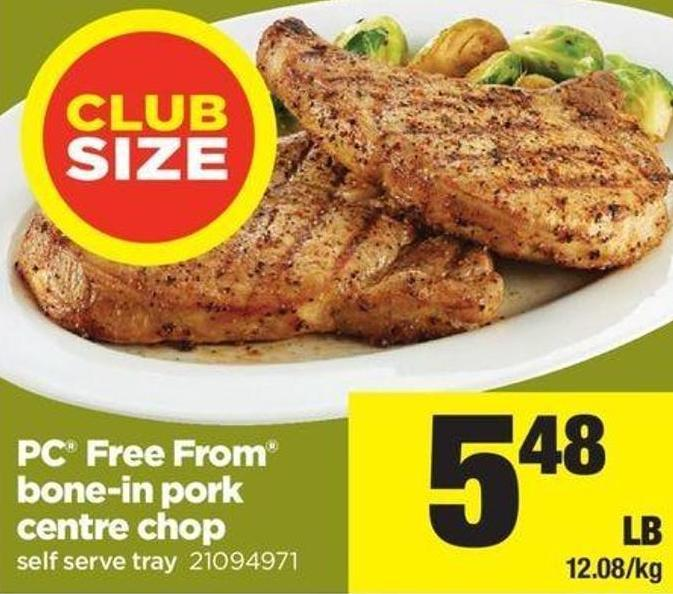 PC Free From Bone-in Pork Centre Chop