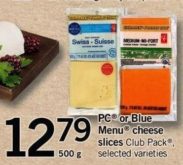 PC Or Blue Menu Cheese Slices - 500 g