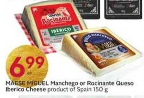 Maese Miguel Manchego or Rocinante Queso Iberico Cheese