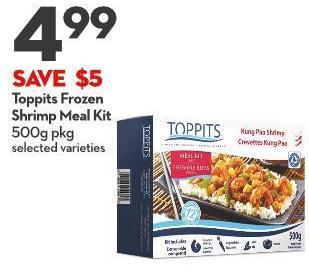Toppits Frozen Shrimp Meal Kit 500g Pkg