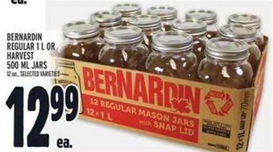 Bernardin Regular 1 L Or Harvest 500 Ml Jars