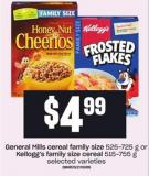 General Mills Cereal Family Size 525-725 G Or Kellogg's Family Size Cereal 515-755 G