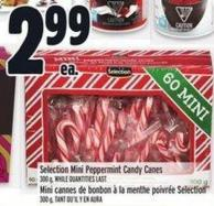 Selection Mini Peppermint Candy Canes 300 G