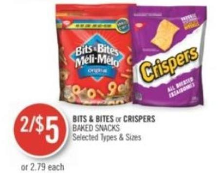 Bits & Bites or Crispers Baked Snacks