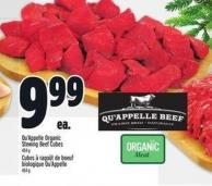 Qu'appelle Organic Stewing Beef Cubes 454 g