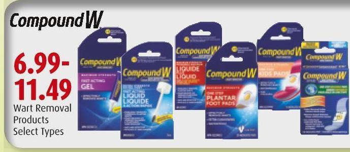 Compound W Wart Removal Products