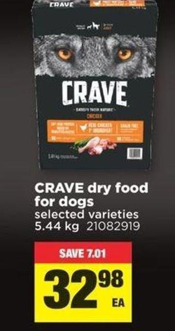 Crave Dry Food For Dogs - 5.44 Kg