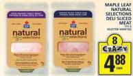 Maple Leaf Maple Leaf Natural Selections Deli Sliced Meat
