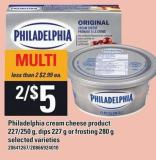 Philadelphia Cream Cheese Product 227/250 G - Dips 227 G Or Frosting 280 G