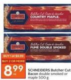 Schneiders Butcher Cut Bacon Double Smoked or Maple 500 g