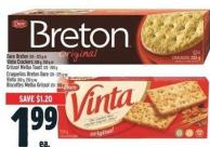 Dare Breton 120 - 225 G Or Vinta Crackers 200 G - 250 G Or Grissol Melba Toast 120 - 200 G