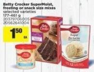 Betty Crocker Supermoist - Frosting Or Snack Size Mixes - 177-461 g