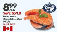 Fresh Canadian  Atlantic Salmon Steak