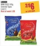 Lindor Mini Eggs 100g
